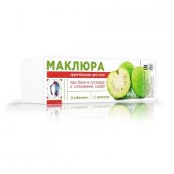 Маклюра Крем-бальзам для тела при боли в Суставах и отложении солей (сабельник и прополис) 100мл